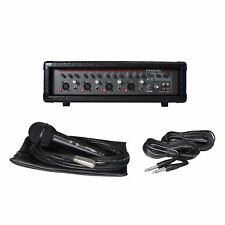 Phonic Powerpod 410 4-Channel Powered Mixer with Mic, Speaker Cables & FX