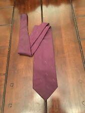 Men's Calvin Klein Purple Wine Colored 100% Silk Classic Neck Tie Made In USA