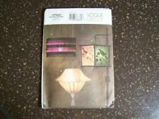 Vogue Decor Pattern V7920 Cloth Lamps Art Craft Sewing Home Decor Uncut