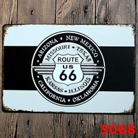 Metal Tin Sign route 66 states  Bar Pub Home Vintage Retro Poster Cafe ART