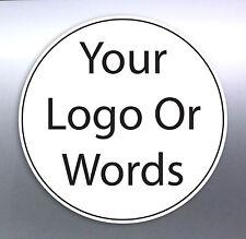 105 @ 20 mm Circle sticker Custom Your Text Words logo Australian made free post