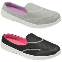LADIES SLIP ON GO MULES WOMENS MEMORY FOAM WALK SHOES CASUAL LIGHTWEIGHT TRAINER