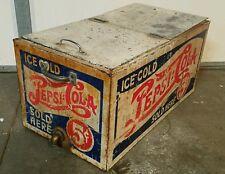 antique Pepsi Cola 5 cent ice box old store cooler 1920s?