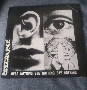DISCHARGE Hear Nothing, See Nothing Say Nothing LP hardcore punk (sleeve damage)