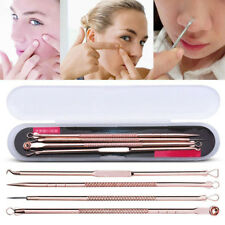 Rose Gold Blackhead Acne Pimple Spot Comedone Extractor Remover Popper Kit 4Pcs
