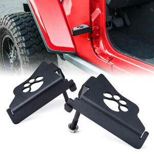 Xprite Front Black Steel Foot Pegs Pedal PAW for 2018-2021 Jeep Wrangler JL/JLU