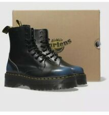 Dr Martens Jadon 9 UK Blue Vintage Leather  Platform Boots NEW Tote Bag Black