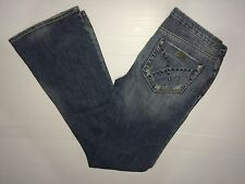 Nwot Silver Embellished Distressed Western Boulet Bootcut Jeans Sz.26-2/33 Long