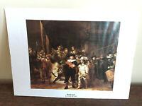 Tableau Ancien estampe Rembrandt (1642) La ronde de nuit