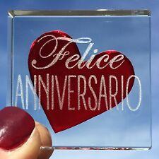 Spaceform Miniature Token Rojo Corazón Felice Internazionale italiano regalo de aniversario