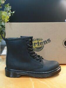 NEW IN BOX!! Dr Martens 1460 Serena Mono Junior Black Fur Lined Size UK 13