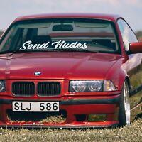 Send Nudes car windshield banner sticker