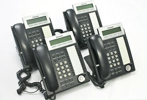 ( Lot of 4) Panasonic KX-NT343 Business Office Telephones With Handsets & Stands