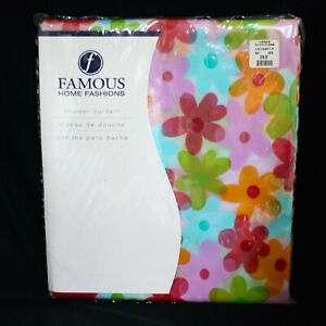 New URBAN OUTFITTERS Famous Home Fashions Floral Print Shower Curtain 70 x 72