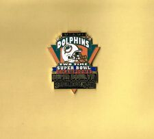 Miami Dolphins 2X Super Bowl Champions NFL Football Lapel Hat Pin