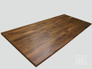 Arbeitsplatte Tischplatte Massivholzplatte Räuchereiche massiv Farblos geölt 4cm