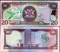 TRINIDAD & TOBAGO 20 DOLLARS 2006 P 44 AUNC