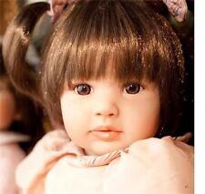"22"" Vinyl Silicone Reborn Bambole Girl Doll baby Gift Jessica Lifelike Handmade"