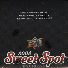 2008 UD Upper Deck Sweet Spot Baseball Factory Sealed Hobby Box - 6 Packs Per Bx