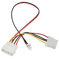 3 Pins to 4 Pins IDE Power Connector Cable Extension Cord Adapter For PC CPU Fan