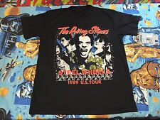 Vtg 80s The Rolling Stones 1989 Steel Wheels Tour T-shirt Mens L Concert Tee