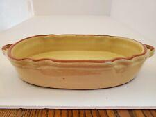Portuguese handmade stoneware dish oval