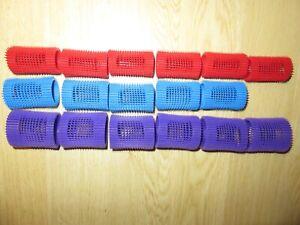 Self Grip Hair Rollers Curlers  17 - 6 Small, 5 Medium, 6 Large