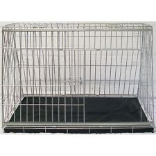 "34"" Sloping Dog pet puppy travel training cage crate transporter guard kennel"