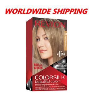Revlon Colorsilk Permanent Hair Dye 60 Dark Ash Blonde WORLDWIDE SHIPPING