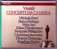 VIVALDI Concerti da Camera Heinz HOLLIGER Michala PETRI Klaus THUNEMANN 2CD