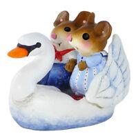 Wee Forest Folk Miniature Figurine M-475 - Swan Boat Sweethearts