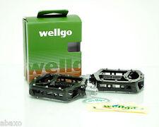 Wellgo MG-1 Magnesium Downhill Platform Pedals MTB/DH/BMX Flat Cage Black