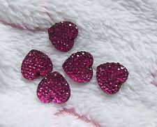 25 Gold Glitter Resin Rhinestone Gems 13 mm Heart Flat Back Sew On Bead