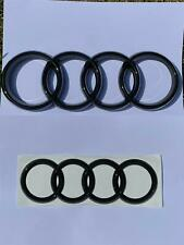 Audi Style Gloss Black Front & Rear Badge Rings Q3 Q7 A6 RS6 285mm 216mm