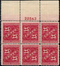 1940 US Stamp #PS8 25c Mint Hinged Plate Block of 6 Catalogue Value $220