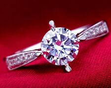 18k White Gold Filled 1.25 Carat Wedding Bridal Engagement Ring Size 6 R81