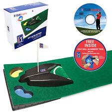 PGA TOUR 6ft Auto Return Machine & Putting Mat Golf Aid Training +Alginment tool