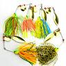 5PCS Mixed Color Spinner Fishing Lures Bass CrankBait Bait Tackle AB. Crank I0U3