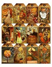 12 Grungy Halloween Hang Tags Scrapbooking Paper Crafts (18)