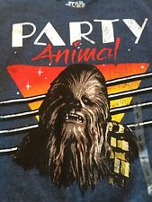 Star Wars CHEWBACCA Party Animal T-shirt Size SMALL NWT