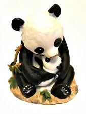 HOMCO Masterpiece Porcelain Panda Bear with Cub Figurine 1988