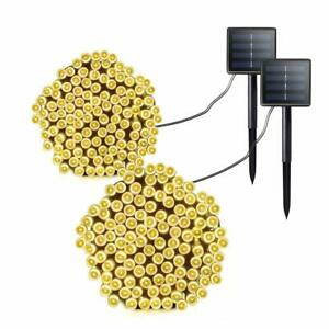 Colohas Guirlande solaire, 20M Solar String Lights(2-Pack )