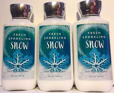3 FRESH SPARKLING SNOW BATH & BODY WORKS LOTION  HAND CREAM SHEA BUTTER 8 OZ