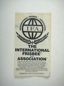 International Frisbee Disc Association Flyer Brochure 1978 NO APPLICATION IFA