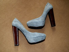 """CHARLES by CHARLES DAVIE Pursuit Grey Suede 5 1/2"""" Pumps  Size: 8"""