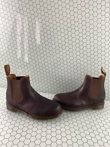 Dr. Martens Brown Leather Pull On Chelsea Boots Men's Size 10  Women's Size 11