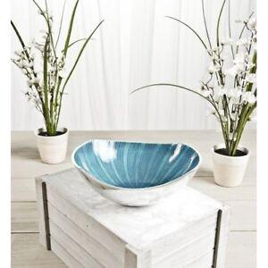 Enamel Aluminium glitter effect Bowl,AQUA,LIME,LILAC.23x31x8 cm