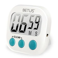Betus Digital Kitchen Timer - Big Digits, Simple Operation and Loud Alarm