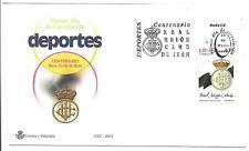 España Futbol Centenario Real Unión Irún Sobre primer Día año 2002 (FE-458)