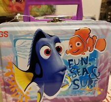 Disney Dory and Nemo Tin Lunch Box Tote New ship Fast GS